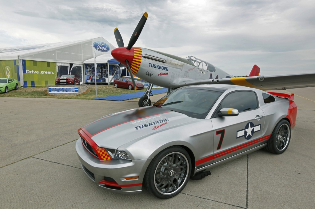 ford designs special edition mustang to honor the tuskegee airmen