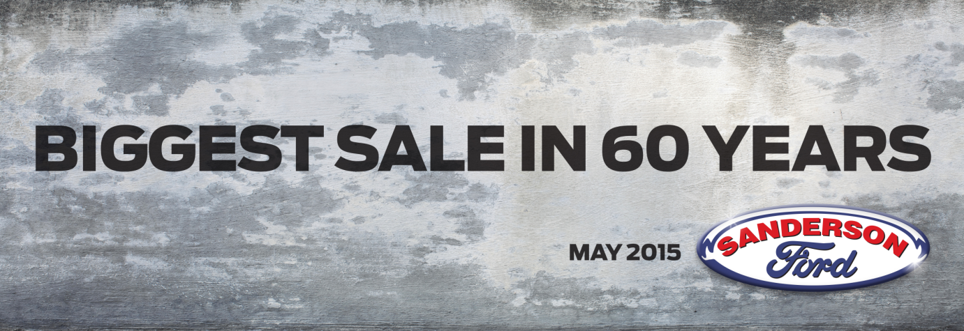 Sanderson Ford 60th Anniversary Sale